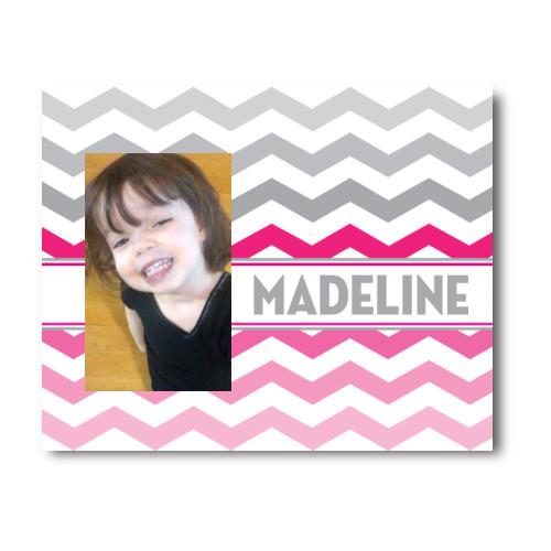 Chevron Picture Frame Pink