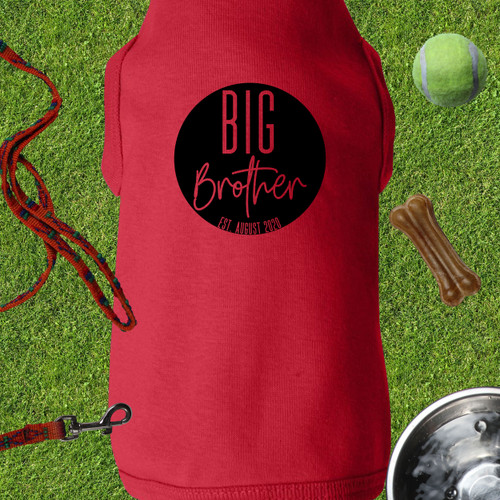 Personalized Golden Youth Big Brother Dog Shirt