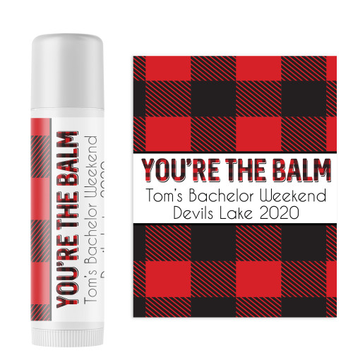 Personalized Perfectly Plaid Lip Balm - Christmas or Winter Party Favors