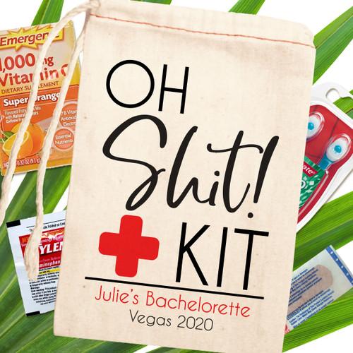 Custom Canvas Favor Bags: Bachelorette Party Favors - Oh Sh Kit