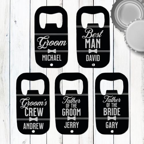 Custom Bottle Opener: The Groom's Crew