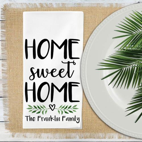 Personalized Home Sweet Home Napkin Set