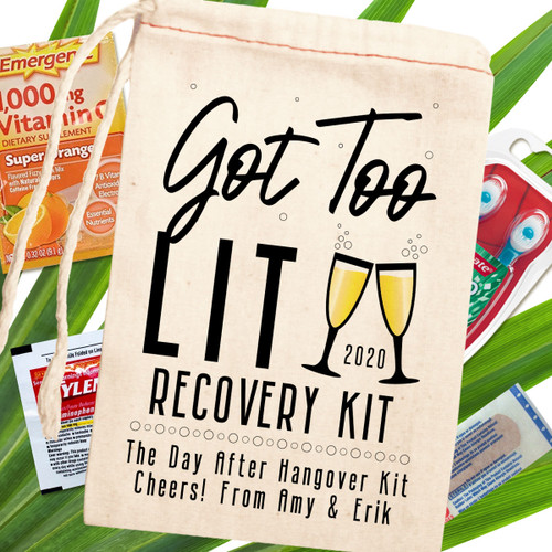 Custom Canvas Favor Bags: Got Too Lit Recovery Kit