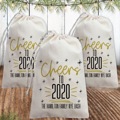 Custom Canvas Favor Bags: Cheers to 2020