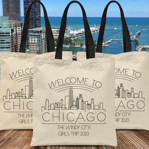 Custom Tote Bags: Welcome To Chicago