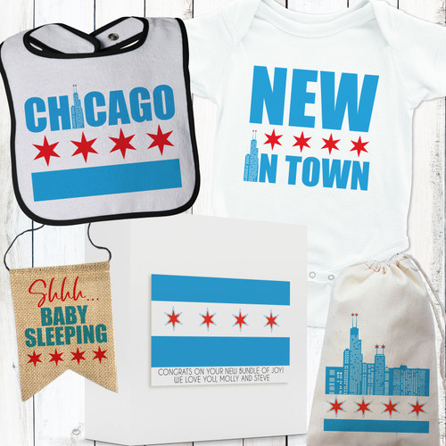 Chicago Style New In Town Baby Gift Set