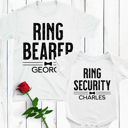Personalized Ring Security Ring Bearer T-Shirt or Bodysuit