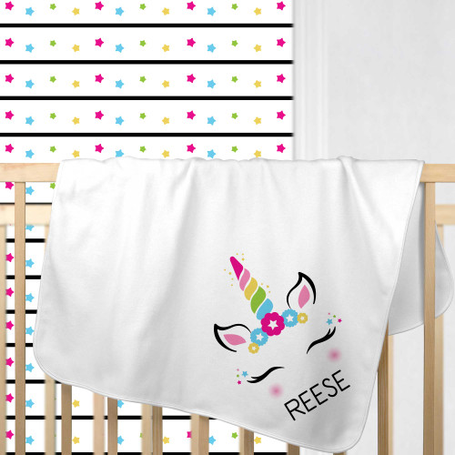 Personalized Magical Mod Unicorn Baby Blanket