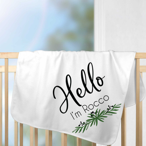 Personalized Lovely Leaf Baby Blanket