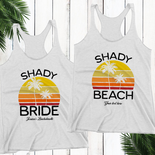 Shady Beach Racerback Tank Top