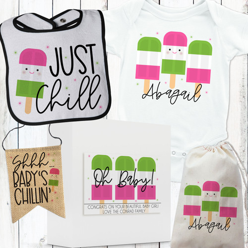 Personalized Just Chillin' Baby Gift Box Set