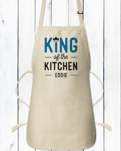 Personalized King of the Kitchen Men's Apron