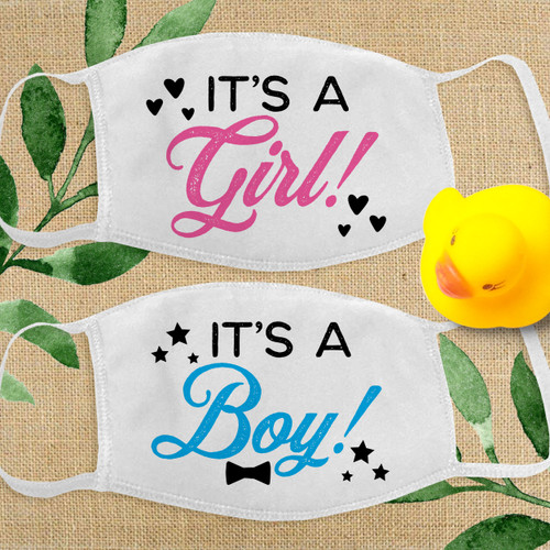 It's a Boy or It's a Girl Face Mask for New Baby