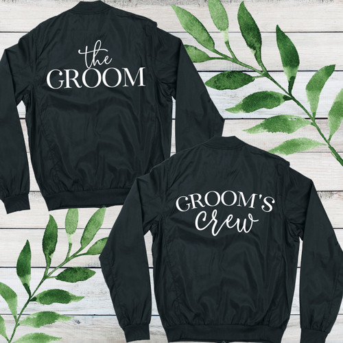 Modern Groom's Crew Bomber Jacket - Bachelor Party Jackets