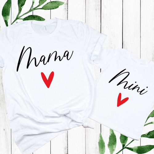 Mama & Mini Heart Matching Shirts for Valentines Day