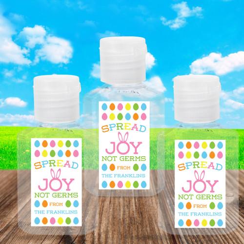 Custom Easter Hand Sanitizer Labels & Bottles - Easter Sanitizer Stickers + Party Favors