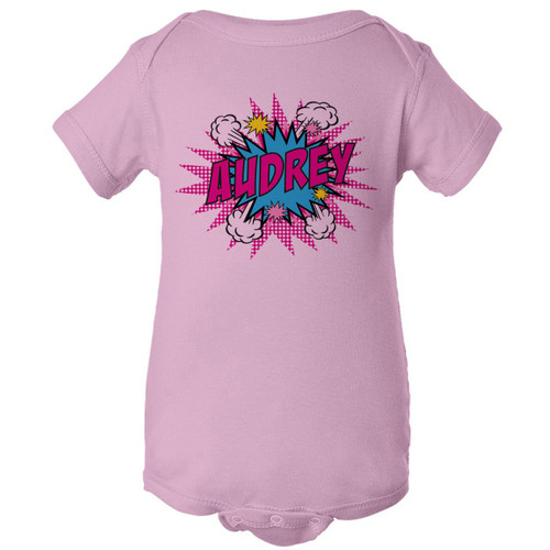 Pink Pop Art On Pink One-Piece (6M or 12M)