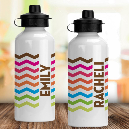 Personalized Water Bottle: Electric Chevron