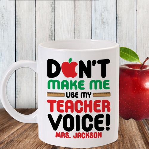 Personalized Teacher Voice Mug - Gift for Teacher