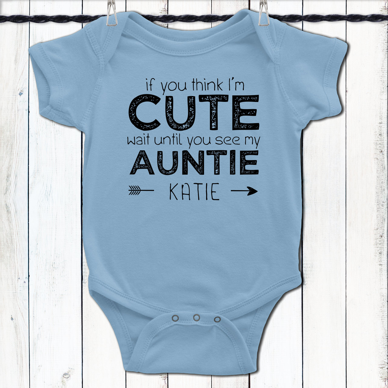 d01c082cbed0 Personalized If You Think I'm Cute Baby Shirt Blues