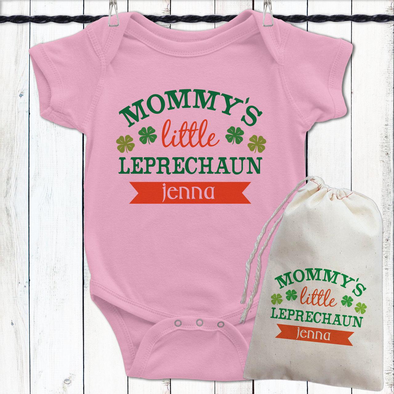 1e0d3d787 Personalized St. Patrick's Day Baby Shirts - Little Leprechaun