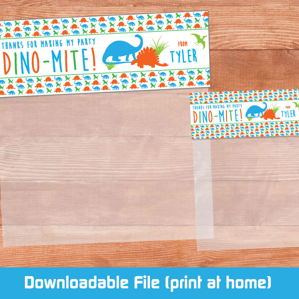 image relating to Printable Bag Toppers named Printable Blue Dino Bag Toppers (Electronic Report)