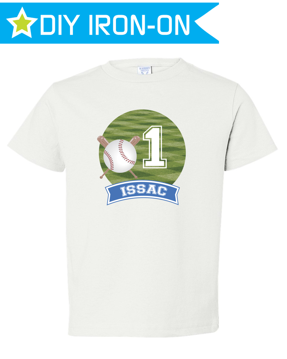 Personalized Baseball Birthday T Shirt Iron On Transfer For Kids
