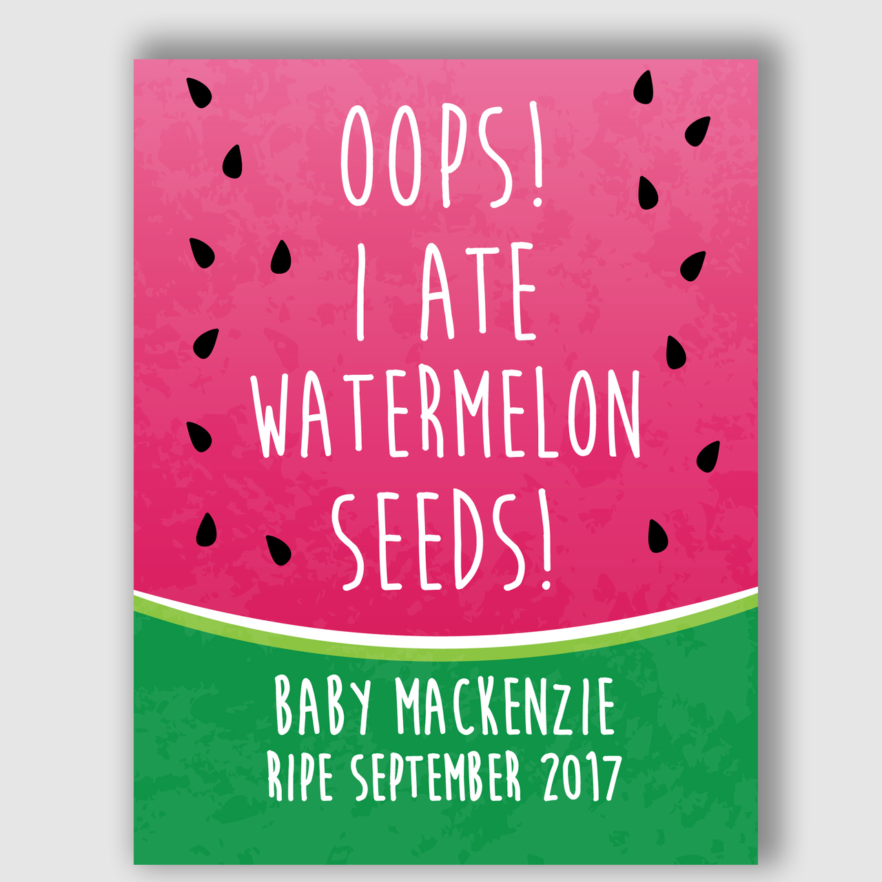 picture regarding Printable Pregnancy Announcements titled Watermelon Seeds Being pregnant Announcement Indication