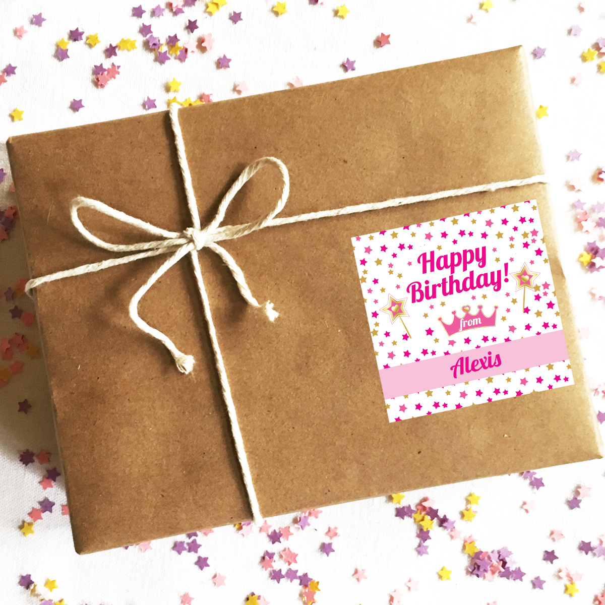 Princess Birthday Gift Labels