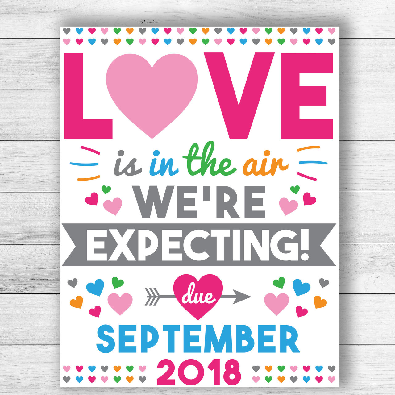 Personalized Love Is In The Air Valentine S Day Pregnancy