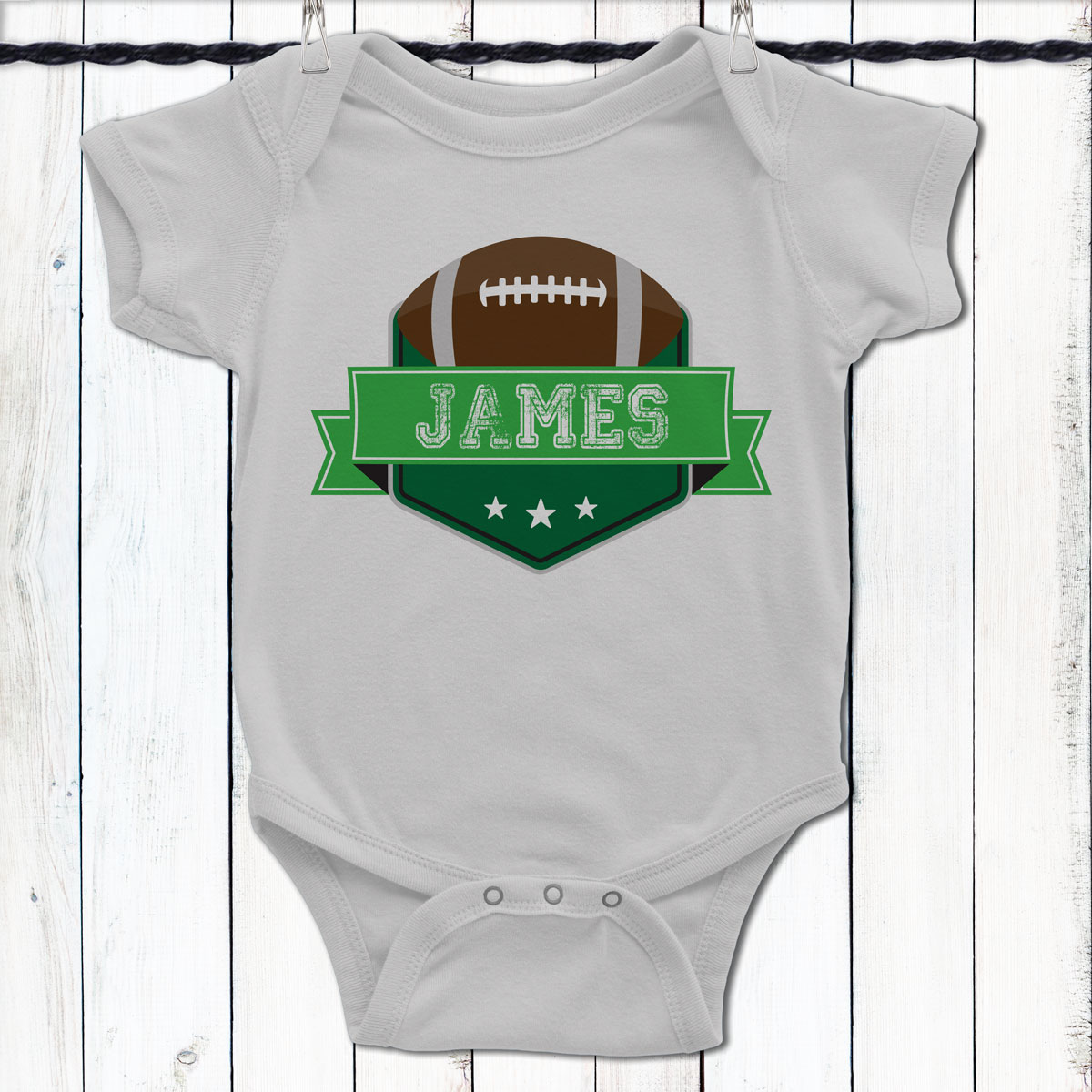 Personalized Game Day Football Baby Shirt 3904e4d51