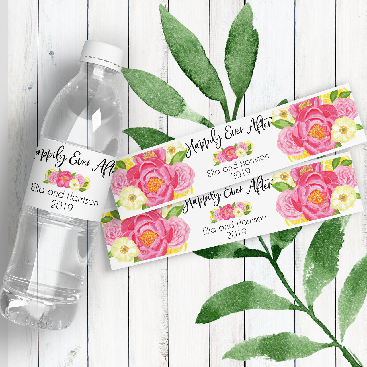 Wedding Water Bottle Labels.Personalized Wedding Water Bottle Labels Summer Breeze