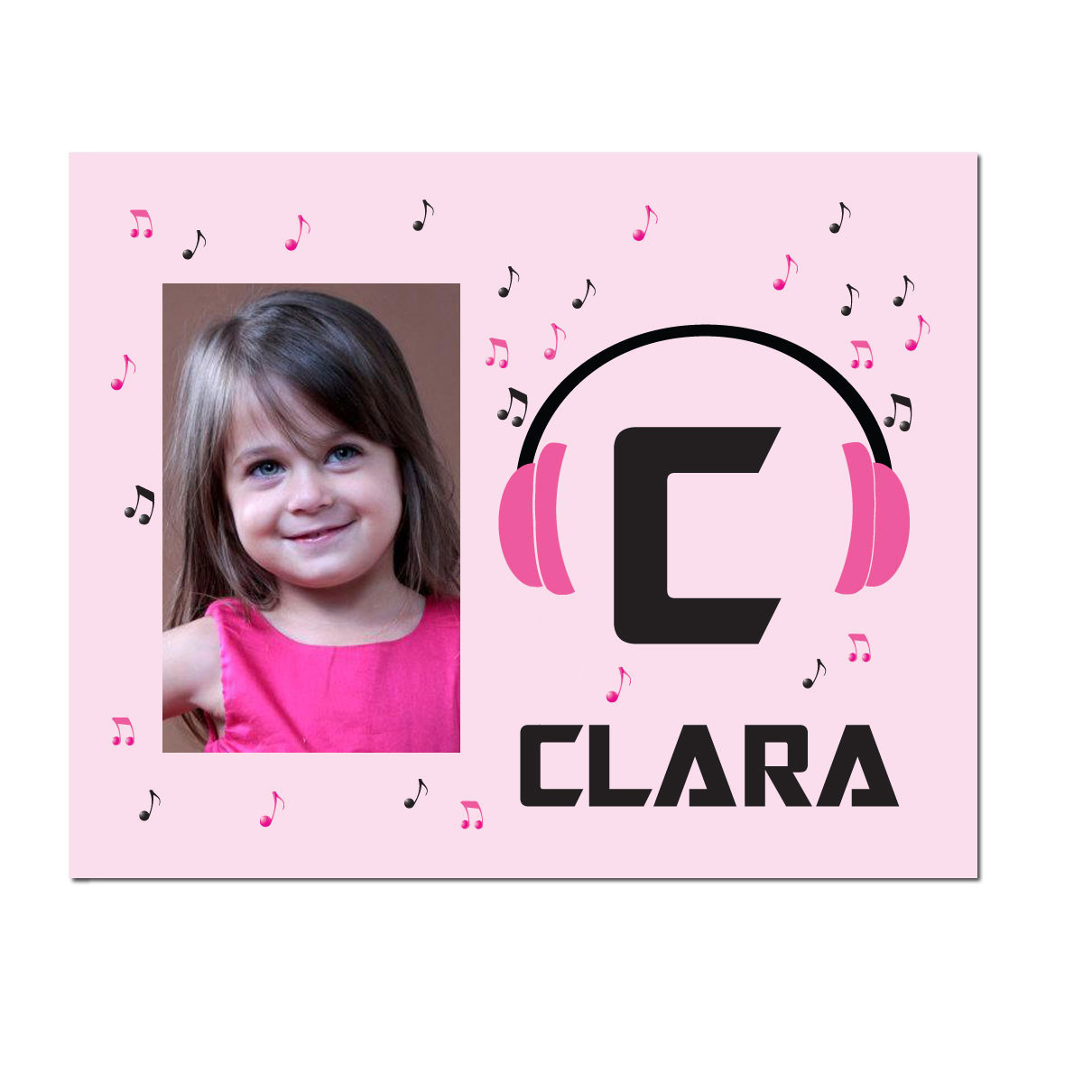 Personalized Boppin' 2 the Beatz Picture Frame Pink