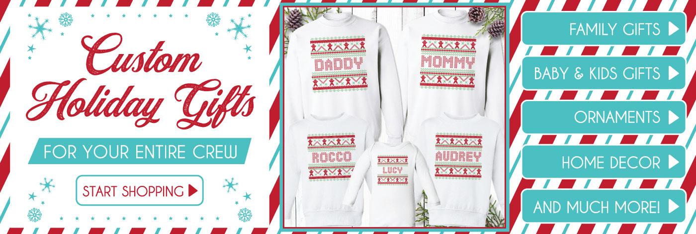 Custom Christmas Gifts + Ornaments
