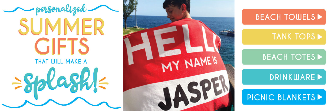 Personalized Beach Towels and Custom Summer Gifts