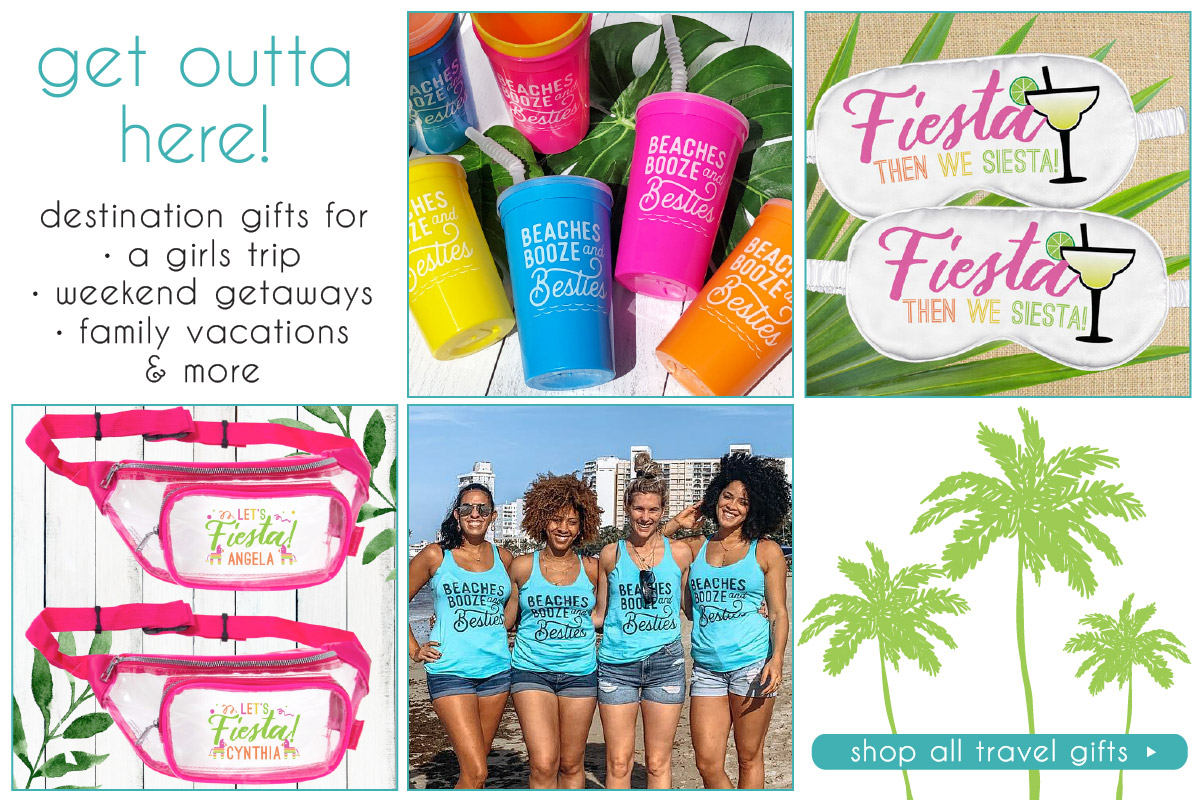 Personalized Girls Trip Tote Bags, Favors and Shirts