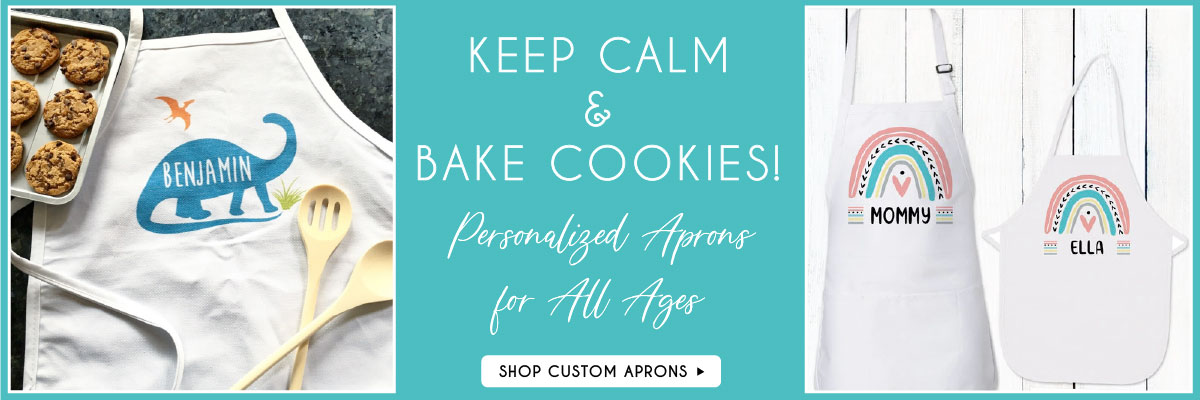 Personalized Aprons for Girls Boys Women and Men