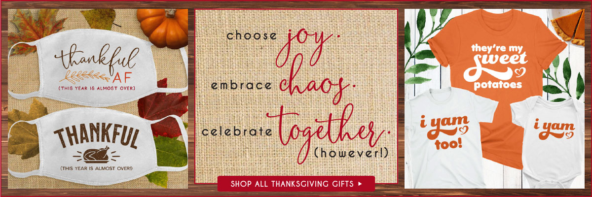 Custom Thanksgiving Gifts and Home Decor