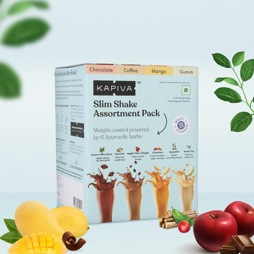 Meal Replacement Slim Shake Assortment Pack with 4 Flavours