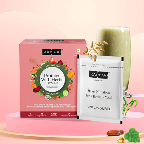 Protein with Herbs for Women- Unflavoured | 420Gms | 12 Servings