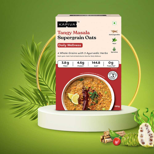 Tangy Masala Supergrain Oats for Daily Wellness