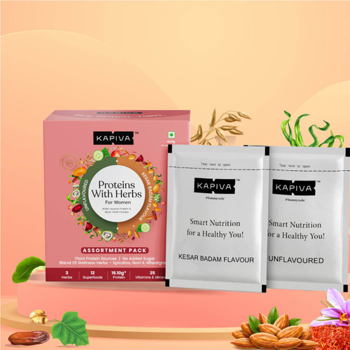 Protein with Herbs for Women- Assortment Pack | 420Gms | 12 Servings
