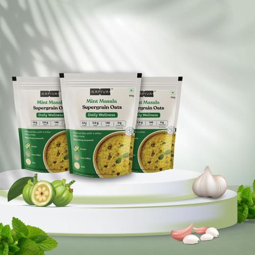 Mint Masala Supergrain Oats - Pack of 3