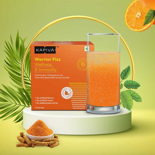 Warrior Fizz | 11-in-1 Immunity Supplement | Natural Orange Flavour Effervescent Powder