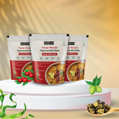 Tangy Masala Supergrain Oats - Pack of 3