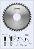 "S22350 14"" x 1"" bore- 36 Tooth Glue Line Rip Saw Blade by FS Tool"