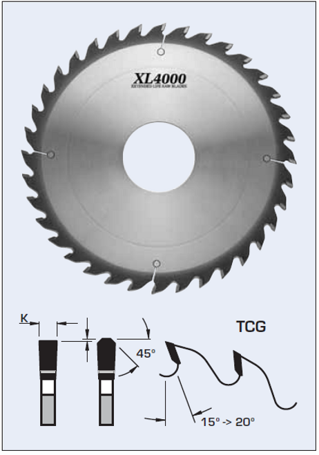 """S22306-2 12"""" x 2"""" bore- 36 Tooth Glue Line Rip Saw Blade by FS Tool"""