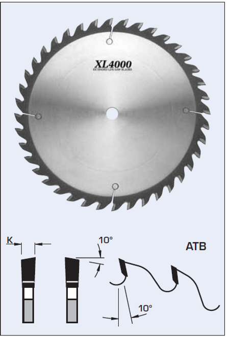 "S03350 14"" Cross Cut Saw Blade (ATB)"