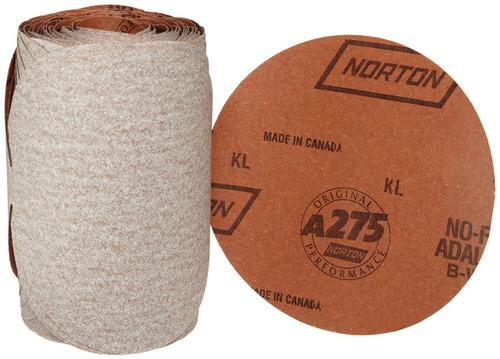 """Norton A275 5"""" 100 Grit & Finer PSA Sanding Discs (100 count roll)"""