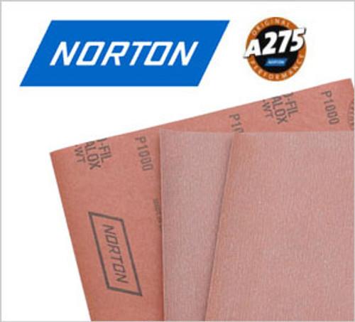 """Norton A275 9"""" x 11"""" 80 grit Sanding Sheet (100 pack)"""